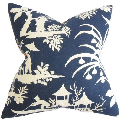 Delana Floral Throw Pillow Color: Midnight, Size: 22 x 22
