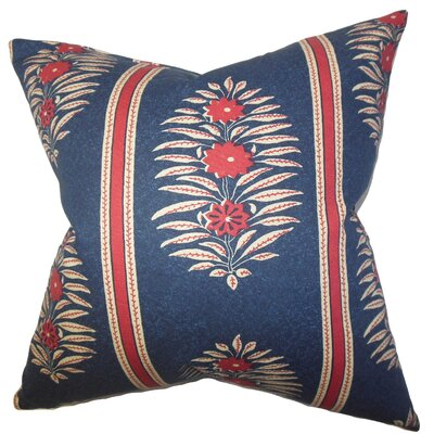Ginevra Floral Cotton Throw Pillow Size: 18 x 18