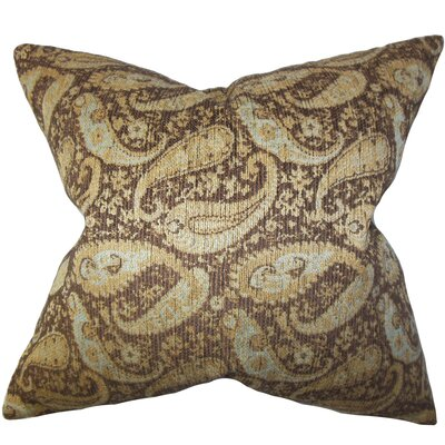 Jewel Paisley Cotton Throw Pillow Size: 18x18