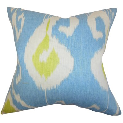 Barkbridge Ikat Throw Pillow Cover Color: Blue