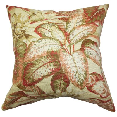 Adlai Floral Cotton Throw Pillow Size: 18 x 18