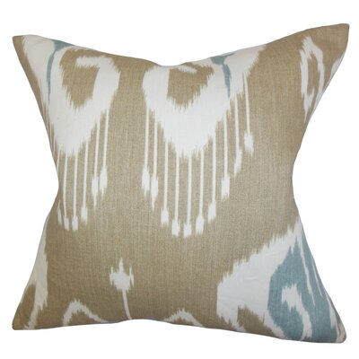 Burgoon Ikat Linen Throw Pillow Cover Color: Neutral