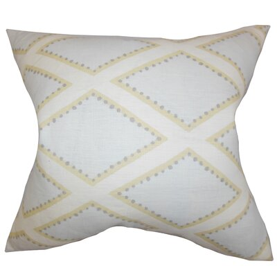 Alaric Geometric Linen Throw Pillow Cover Color: Blue