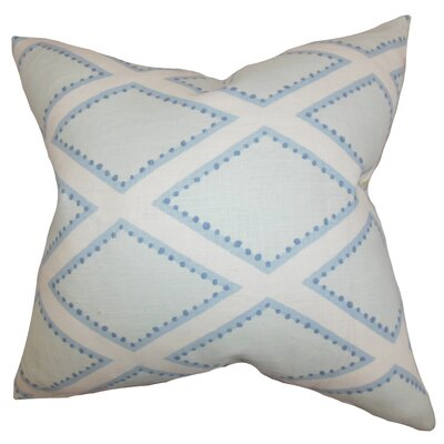 Alaric Geometric Cotton Throw Pillow Color: Chambray, Size: 18 x 18