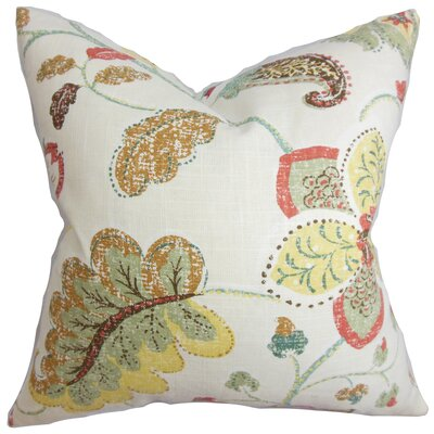 Jora Floral Throw Pillow Color: Spring, Size: 22 x 22