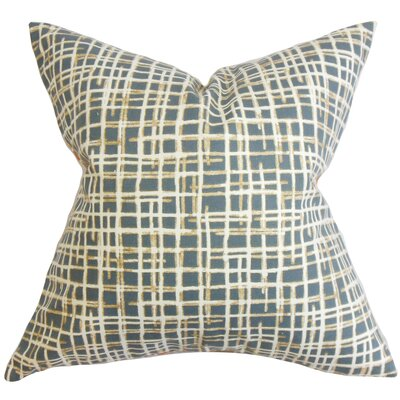 Onslow Plaid Cotton Throw Pillow Color: Midnight, Size: 24 x 24