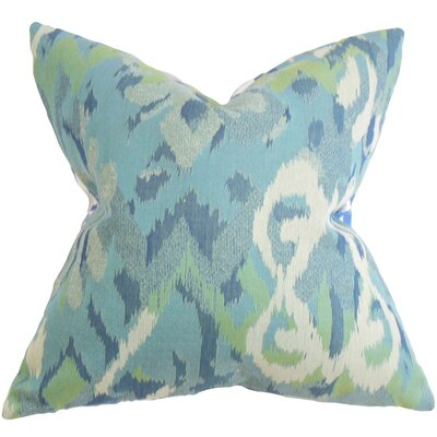 "Farrar Ikat Throw Pillow Size: 22"" x 22"" P22-ROB-IKATMINGLE-RAIN-P100"