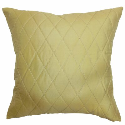 Una Quilted Cotton Throw Pillow Cover