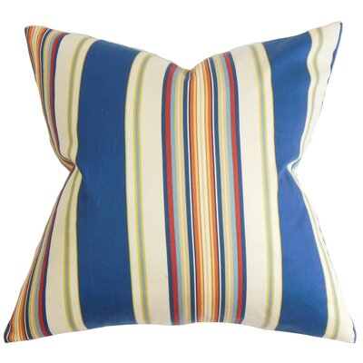 Douce Stripes Cotton Throw Pillow Color: Multi, Size: 18 x 18