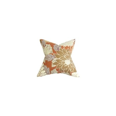 Kerensa Floral Cotton Throw Pillow Color: Terracotta, Size: 24 x 24