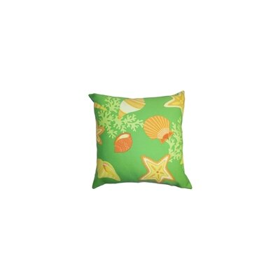 Fortner Coastal Throw Pillow Color: Citrus, Size: 24 x 24