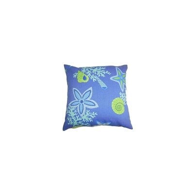 Fortner Coastal Throw Pillow Color: Marine, Size: 18 x 18