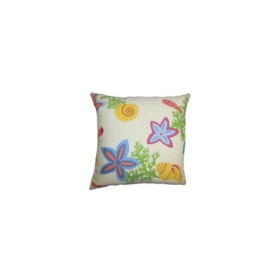 Jaleh Coastal Throw Pillow Color: Multi, Size: 18 x 18