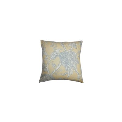 Chambord Floral Square Cotton Throw Pillow Color: Latte, Size: 18 x 18