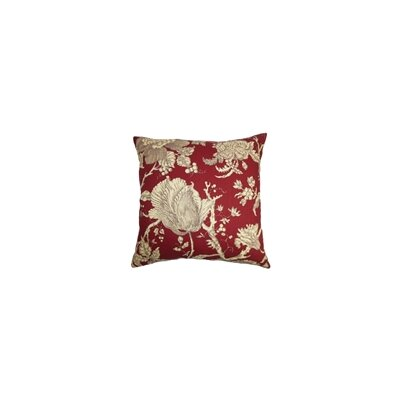 Panthea Floral Cotton Throw Pillow Color: Merlot, Size: 20 x 20