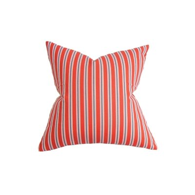 Nouvel Stripe Cotton Throw Pillow Size: 18 x 18