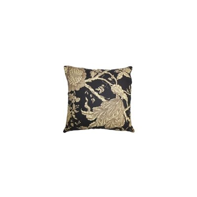 Chambord Floral Cotton Throw Pillow Color: Midnight, Size: 20 x 20