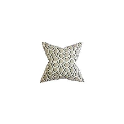 Blaise Geometric Cotton Throw Pillow Color: Gray Stone, Size: 24 x 24
