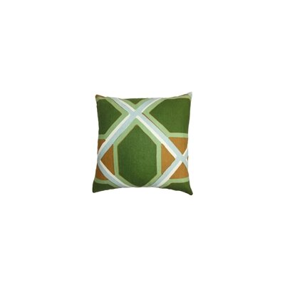 Bullis Geometric Cotton Throw Pillow Color: Malachite, Size: 24 x 24