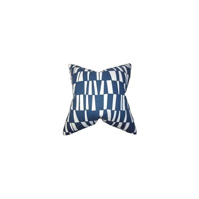 Iker Geometric Cotton Throw Pillow Color: Premier Navy, Size: 22 x 22