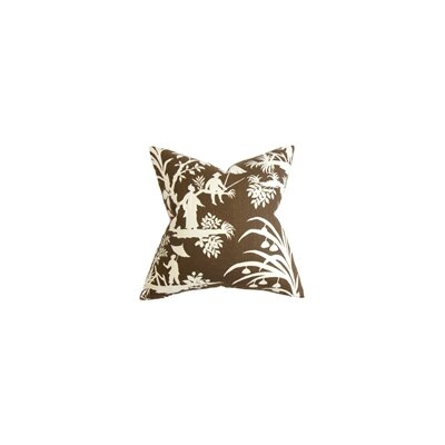 Delana Floral Throw Pillow Color: Amber, Size: 20 x 20