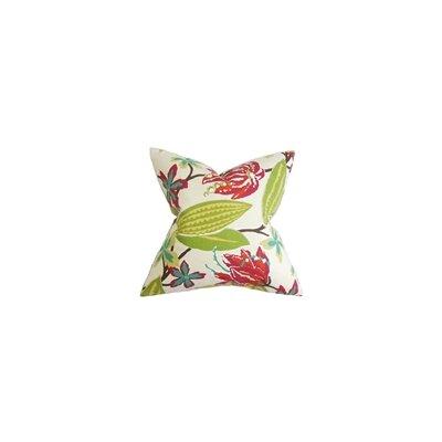 Averill Floral Cotton Throw Pillow Color: Fuchsia, Size: 22 x 22