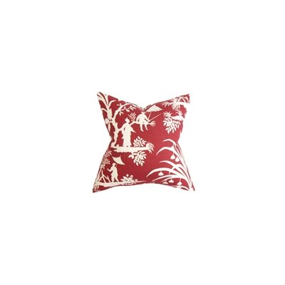 Liya Floral Throw Pillow Color: Lacquer, Size: 24 x 24