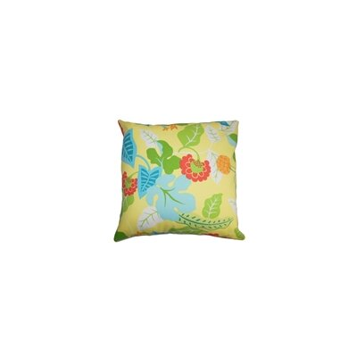 Gamila Floral Outdoor Throw Pillow Color: Lemon, Size: 22 x 22
