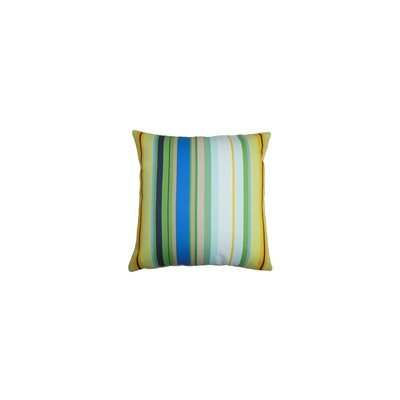 Laird Stripes Outdoor Throw Pillow Color: Pacific, Size: 18 x 18