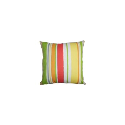 "The Pillow Collection 20"""" Square Ibbie Stripes Throw Pillow P20-ROB-BAJASTRIPE-TURQUOISE-O"