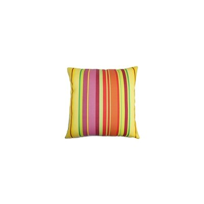 Laird Stripes Outdoor Throw Pillow Color: Sunbeam, Size: 24 x 24