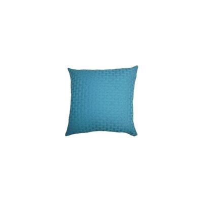 Maarav Solid Throw Pillow P18-ROB-CARMELWEAVEBK-TURQUOIS
