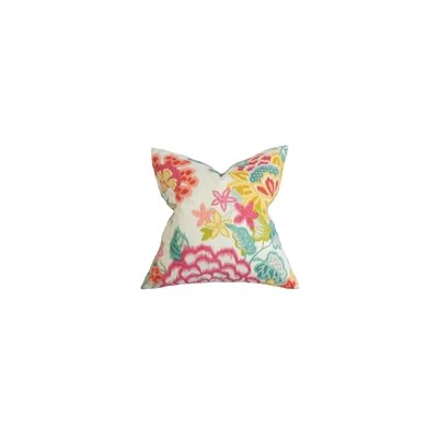 Lindsay Floral Cotton Throw Pillow Cover Size: 18 x 18