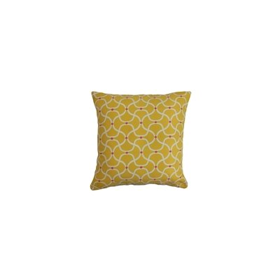 Radha Geometric Outdoor Throw Pillow Cover Size: 18 x 18