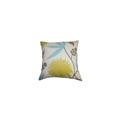 Huberta Floral Cotton Throw Pillow Color: Aegean, Size: 24 x 24