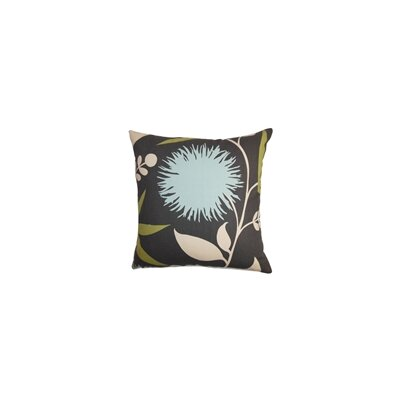 Huberta Floral Cotton Throw Pillow Color: Slate, Size: 22 x 22