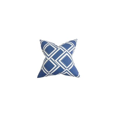Jersey Geometric Throw Pillow Color: Bluejay, Size: 22 x 22