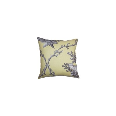 Maj Coastal Throw Pillow Color: Sunray, Size: 22 x 22