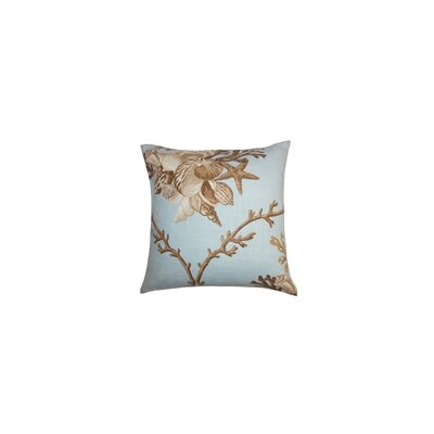 Ramsgate Coastal Throw Pillow Color: Surf, Size: 22 x 22