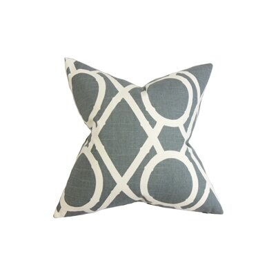 Whit Geometric Cotton Throw Pillow Color: Gray, Size: 22 x 22