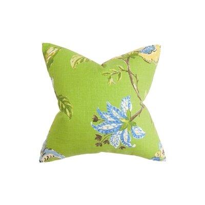 Xois Floral Throw Pillow Color: Grasslands, Size: 18 x 18