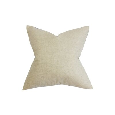 Yaretzi Solid Throw Pillow Color: Neutral, Size: 20 x 20