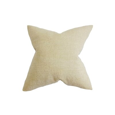 Yaretzi Solid Throw Pillow Color: Natural, Size: 18 x 18