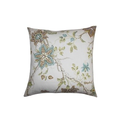 Ululani Floral Cotton Throw Pillow Color: Capri, Size: 18 x 18