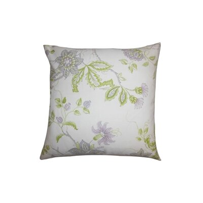 Ululani Floral Cotton Throw Pillow Color: Heather, Size: 18 x 18