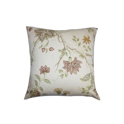 Ululani Floral Cotton Throw Pillow Color: Spice, Size: 24 x 24