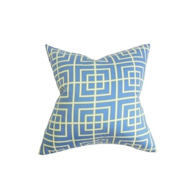 Helmut Geometric Cotton Throw Pillow Size: 24 x 24
