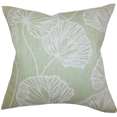 Fia Floral Throw Pillow Color: Green, Size: 24 x 24