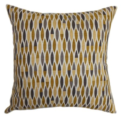 Candie Linen Throw Pillow Color: Goldenrod, Size: 22 x 22