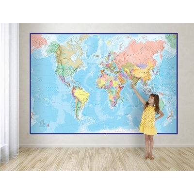 Giant World Map Wall Mural WP81001